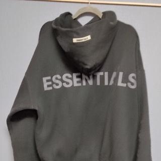 エッセンシャル(Essential)のFear Of God Essentials パーカー Mサイズ 黒(パーカー)