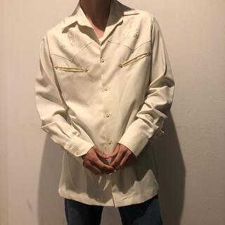 Wrangler - vintage ウエスタンシャツ 古着 ホワイト