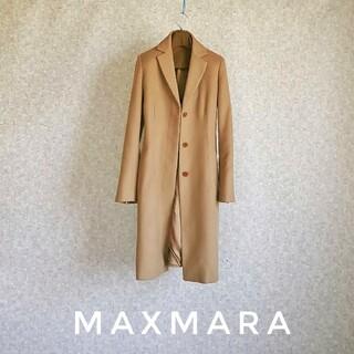 Max Mara - 超高級 美品 マックスマーラ チェスターコート 最高級生地 大人気キャメルカラー