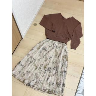 Rirandture - リランドチュール セットアップ ニット スカート 花柄