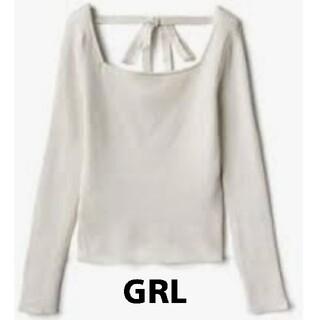 グレイル(GRL)のGRL グレイル スクエアネック バックリボン ニット トップス(ニット/セーター)