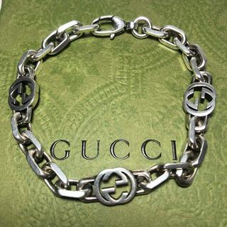 Gucci - 【美品激安】GUCCI グッチ インターロッキングGシルバーブレスレット