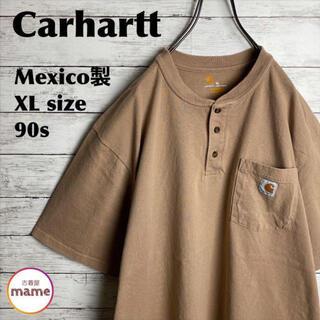 carhartt - ポケット付き ヘンリーネック Tシャツ