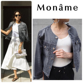 YANUK - 雑誌掲載 Moname モナーム クルーネック Gジャン 新品 グレー  S