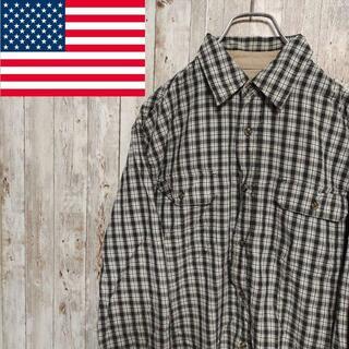 ラングラー(Wrangler)の○Wrangler○ アメリカ古着 長袖 チェックシャツ グリーン メンズ(シャツ)