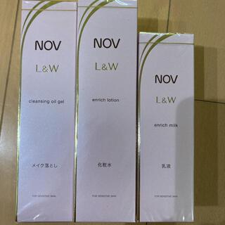 NOV - 特別価格!NOV ノブL&W 3点セット ローション  乳液 クレンジングジェル