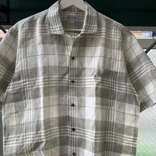 BURBERRY - 90s 超希少 BURBERRYS 旧タグ リネンシャツ オールドバーバリー