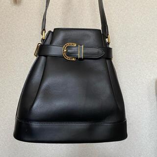 ジャンニバレンチノ(GIANNI VALENTINO)のショルダーバッグ 黒 送料込 美品(ショルダーバッグ)