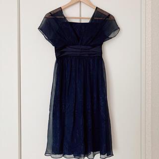 エメ(AIMER)のAIMER パーティードレス ドレス 結婚式 ネイビー 黒 フォーマル 2WAY(ミディアムドレス)