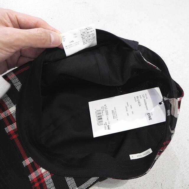 N.HOOLYWOOD(エヌハリウッド)の新品 エヌハリウッド アンダーカバー 20ss コラボ チェック キャップ 黒 メンズの帽子(キャップ)の商品写真