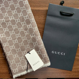 Gucci - GUCCI★アウトレット直営購入 大判ロゴウールストール