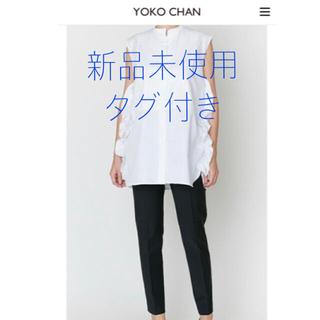 BARNEYS NEW YORK - 新品タグ付き YOKO CHAN  ヨーコチャン ノースリーブフリルシャツ 36