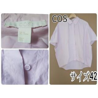 コス(COS)のコスCOSドルマンスリーブシャツ、ブラウス ピンク(シャツ/ブラウス(半袖/袖なし))