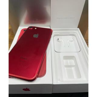 アイフォーン(iPhone)の美品 iPhone 7 レッド 128GB 元キャリアau(スマートフォン本体)