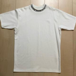 アクネ(ACNE)のAcne studios ロゴ ネック Tシャツ カットソー アクネ (Tシャツ/カットソー(半袖/袖なし))