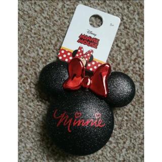 ディズニー(Disney)の日本未発売 ディズニー ミニー 折り畳みヘアブラシ 鏡付き(ヘアブラシ/クシ)