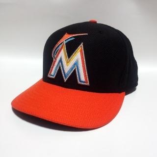 ニューエラー(NEW ERA)のNEWERA MLB マイアミマーリンズ オーセンティック キャップ 野球帽(応援グッズ)