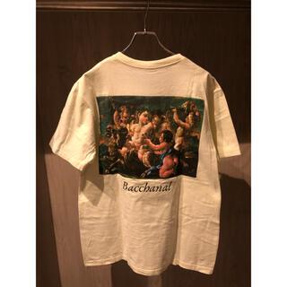 シュプリーム(Supreme)の激レア Supreme 15SS Bacchanal Tee 薄黄 L(Tシャツ/カットソー(半袖/袖なし))