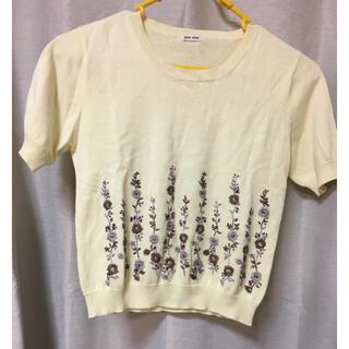 L'EST ROSE - L'EST ROSE レストローズ 刺繍 セーター レモンクリーム色