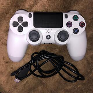 PlayStation4 - PS4 純正コントローラー グレイシャーホワイト コード付き