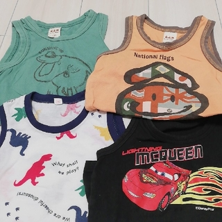 エーアーベー(eaB)のタンクトップ 男の子90 4枚セット(Tシャツ/カットソー)