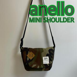anello - anello アネロ ミニショルダー メッセンジャーバッグ カモフラ USED