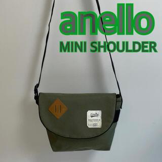 アネロ(anello)のanello アネロ ミニショルダー メッセンジャーバッグ カーキー USED(ショルダーバッグ)