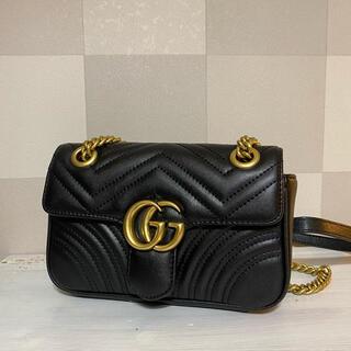 Gucci - gucci ショルダーバッグ マーモント キルティング ブラック