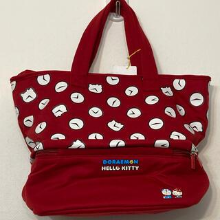 ハローキティ - ドラえもん&ハローキティ コラボ 保冷バッグ部分ありトートバッグ