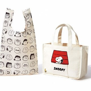 SNOOPY - sweet付録スヌーピートートとエコバック