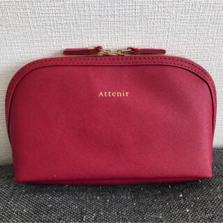 アテニア(Attenir)の新品☆未使用 アテニア レザー調 ポーチ ローズレッド(ポーチ)