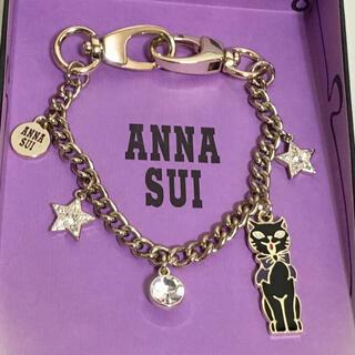 アナスイ(ANNA SUI)のANNA SUIバッグチャーム 黒猫 ネコ 未使用(チャーム)
