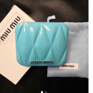 miumiu - miumiu ミュウミュウ香水のノベルティ ー ブルー 青ミラー  正規品