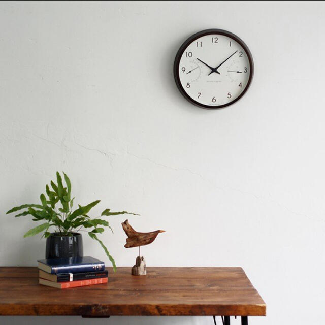 IDEE(イデー)のレムノス カンパーニュ 掛け時計 温湿度計つき インテリア/住まい/日用品のインテリア小物(掛時計/柱時計)の商品写真