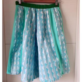 アナスイ(ANNA SUI)のメラントリックヘムライト 春色スカート(ひざ丈スカート)