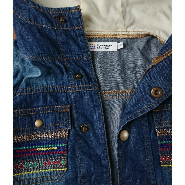 SEVENDAYS=SUNDAY(セブンデイズサンデイ)のSEVENDAYS SUNDAY 100cm フードジャケット キッズ/ベビー/マタニティのキッズ服女の子用(90cm~)(ジャケット/上着)の商品写真