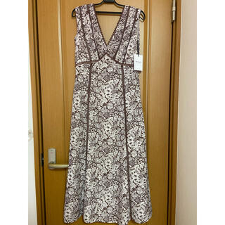 snidel - herlipto♡Lace Trimmed Floral Dress brown