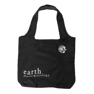 アースミュージックアンドエコロジー(earth music & ecology)の新品 アース ミュージック&エコロジー エコバッグ ブラック 折りたたみ (エコバッグ)
