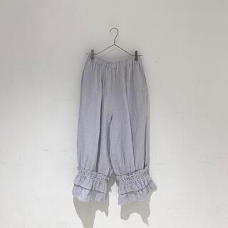 サマンサモスモス(SM2)のサマンサモスモス ルミネ立川限定 裾絞りペチパンツ ブルー(カジュアルパンツ)