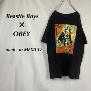 オベイ(OBEY)の☆レア☆オベイ×ビースティボーイズ☆MCA追悼☆半袖カットソー☆バンT(Tシャツ/カットソー(半袖/袖なし))