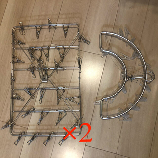 MUJI (無印良品) - 無印良品 オールステンレス角型ハンガー・大 アルミ壁面用ハンガー