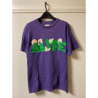 エーライフ(ALIFE)のエーライフ alife Tシャツ カットソー 半袖 プリント 紫 パープル M(Tシャツ/カットソー(半袖/袖なし))
