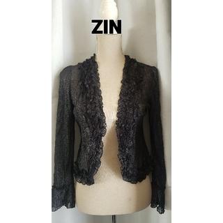 ジンカトウ(ZIN KATO)の大変美品 ZIN KATO 薄手の羽織もの、ボレロ、カーディガン(ボレロ)