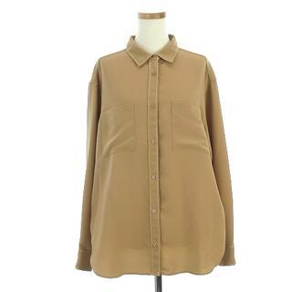 アイシービー(ICB)のアイシービー 16SS シャツ 長袖 胸ポケット ステッチ 茶 42 IBO5(シャツ/ブラウス(長袖/七分))