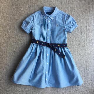 POLO RALPH LAUREN - ラルフローレン キッズ コットン オックスフォードシャツドレス ワンピース