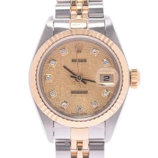 ロレックス(ROLEX)のロレックス  デイトジャスト 10Pダイヤ 腕時計(腕時計)