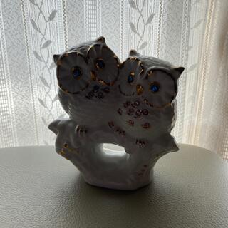 可愛い夫婦フクロウの置き物(彫刻/オブジェ)