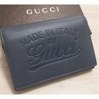 Gucci - GUCCI 名刺入れ カードケース ロゴ型押し