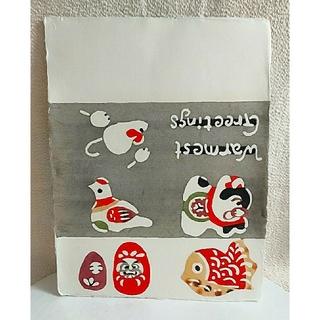 IDEE - 柚木沙弥郎  和紙の型染絵『狛犬絵』 #民芸 #民藝