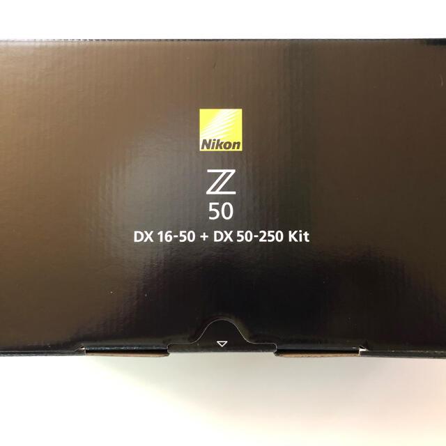 Nikon(ニコン)のニコン Z50 ダブルズームキット 新品未使用品 3月末購入品 スマホ/家電/カメラのカメラ(ミラーレス一眼)の商品写真